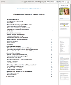 Inhaltsverzeichnis: Kostenloses PDF E-Book